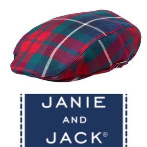 Janie & Jack boys 12-24M plaid cap